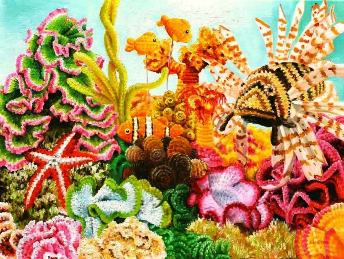 crocheted reef